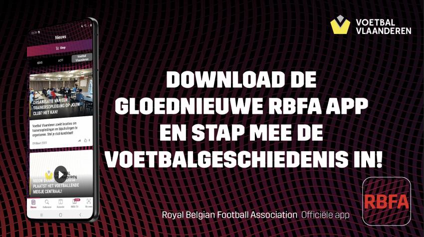 RFBA app voetbal vlaanderen